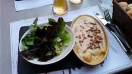 Humm une bonne croûte (à base de pain, vin blanc, fromage, ...)