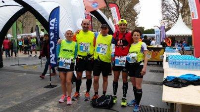 De g. à d. : Nadège, Hervé, Francis, moi et Véronique