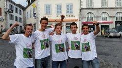 Les vainqueurs (de g. à d. : Kévin L, Cédric, Dimitri, Kévin M et moi)