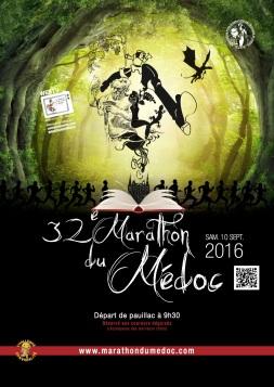 Affiche du 32ème Marathon du Médoc