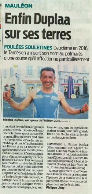 28/02/2017 : Sud Ouest