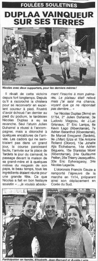 09/03/2017 : Le Miroir De La Soule