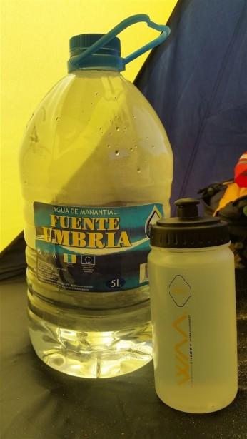 Les 5L d'eau à gérer