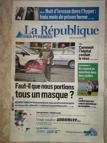 2020-04-07 - La République - 1ere page